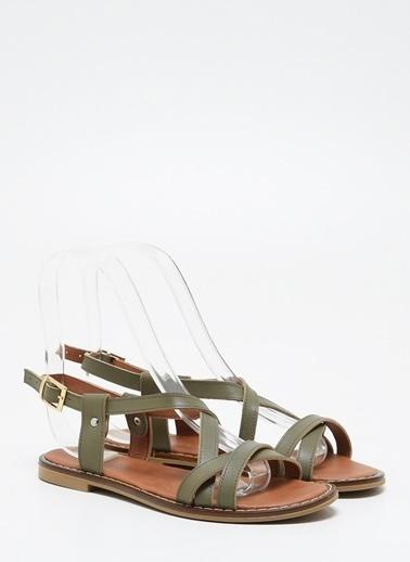 F By Fabrika Kadın Haki Sandalet ADELA Haki